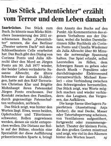 Saarbrücker Zeitung 22.3.´14